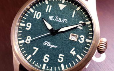Le Jour 瑞士制造青銅 Pilot 機械錶